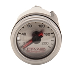 AVS GAU-200AVS2 Dual Needle Silver Air Gauge, 0-200 psi