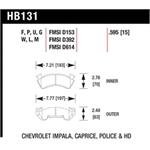 Garage Sale - Hawk HB131W.595 Disc Brake Pads, Impala/Caprice