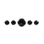 Auto Meter 1201 Gauge Kit, Designer Black II Instruments Pack