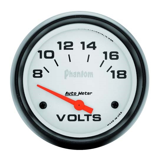 Auto Meter 5891 Phantom Air-Core Electric Voltmeter Gauge, 2-5/8 Inch
