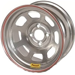Bassett 47SP4C 14X7 D-Hole 4 on 4.25 4 Inch Backspace Chrome Wheel