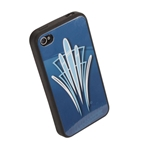 Pinstriped iPhone Cover - Blue