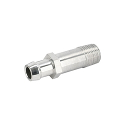 Long Heater Hose Fitting, 5/8 Inch Hose, Polished Aluminum