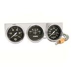 Auto Meter 2395 Auto Gage 3 Gauge Console, Oil/Amp/Water
