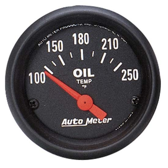 Auto Meter 2638 Z-Series Air-Core Oil Temperature Gauge, 2-1/16 Inch