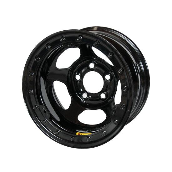Bassett 58AC4L 15X8 Inertia 5 on 4.75 4 Inch BS Black Beadlock Wheel