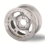 Bassett 58AF4ICL 15X8 Inertia 5on4.5 4 BS IMCA Chrome Beadlock Wheel