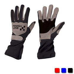FinishLine Black Size Large Double Layer Driving Gloves, SFI 3.3/5