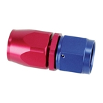 Speedway Full Flow Swivel Hose End Fitting, Straight, Red/Blue, -8 AN
