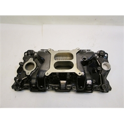 Garage Sale - Power+Plus Typhoon Small Block Chevy 1957-95 Intake Manifold, Black Chrome