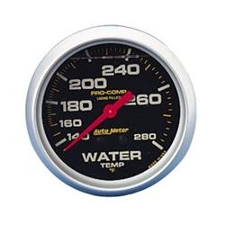 Garage Sale - Auto Meter 5431 Pro-Comp Liquid Filled Water Temp Gauge 140-280 Degree
