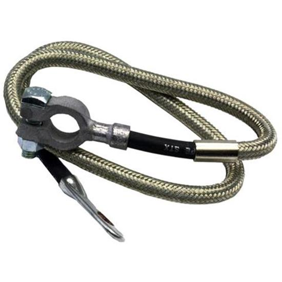 Steel Braided Battery Cable : Taylor cable diamondback braided stainless battery