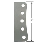 AFCO 5-Hole Steel Mounting Bracket, 1/2 Inch Holes