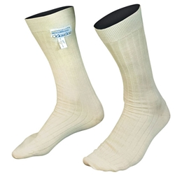 Alpinestars FIA 8856-2000 and SFI 3.3 Nomex Socks, White Size Large