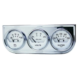 Auto Meter 2325 Auto Gage Mechanical 3 Gauge Console, Oil/Water/Volt