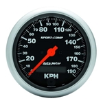 Auto Meter 3987-M Sport-Comp Air-Core Speedometer, 190km/h, 3-3/8 Inch