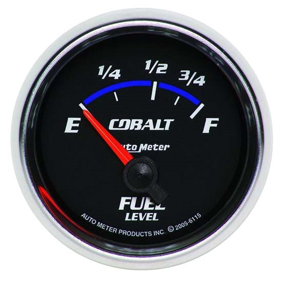 Auto Meter 6115 Cobalt Air-Core Fuel Level Gauge, 2-1/16 Inch