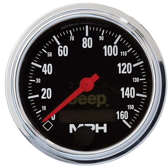 Auto Meter 880244 Jeep Air-Core Speedometer Gauge, 3-3/8 Inch