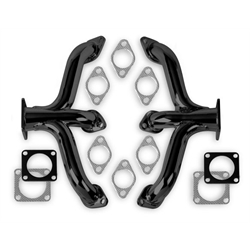 Flowtech 12702FLT Block Hugger Header, Flathead Ford, Black Paint