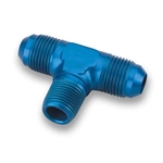 Earls 982503ERL Blue -3 AN Male Tee to 1/8 Inch NPT on Branch