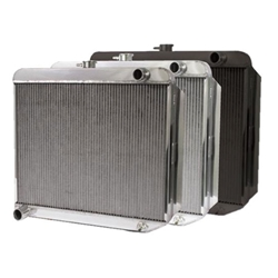 Garage Sale - AFCO Direct Fit 1960-78 Mopar A,B,E -Body Radiator, 22X22 Inch, With Trans Cooler