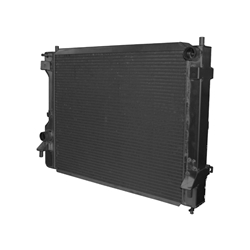 Afco 81283B 2010-Up Mustang Aluminum Radiator, Anodized Black Finish