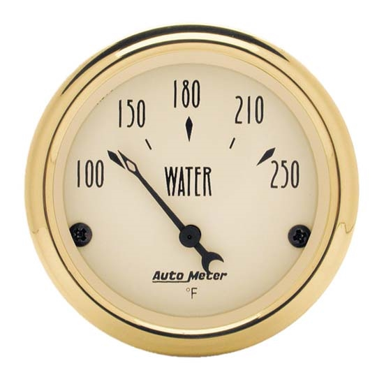 Auto Meter 1538 Golden Oldies Air-Core Water Temperature Gauge