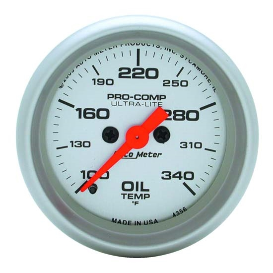 Auto Meter 4356 Ultra-Lite Digital Stepper Motor Oil Temperature Gauge