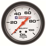 Auto Meter 5821-00407 GM White Mechanical Oil Pressure Gauge