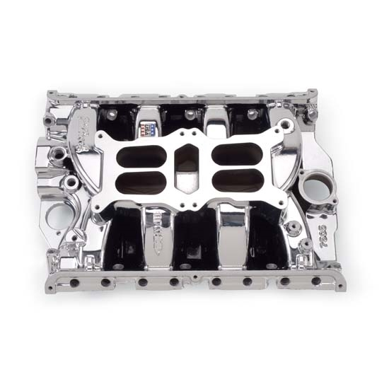 Edelbrock rpm air gap dual quad intake manifold big