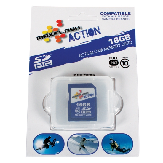 Prime Memory Solutions SD16GHCCL10M-A 16 GB SD Card for GoPro Camera