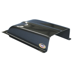 Oil Cooler Scoop, Carbon Fiber Look, 11 Inch Wide x 7 Inch Deep