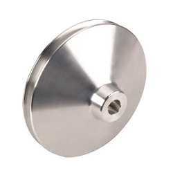 Single Groove Power Steering Pump Pulley, Billet Aluminum, Short Pump