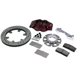 Ultra Lite Midget Sprint Inboard Brake Kit, Steel Rotor, 2 Bolt Mt.