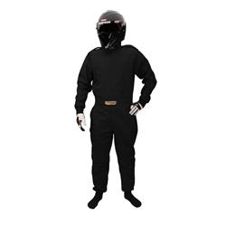 Garage Sale - Speedway Exonomy One-Piece Racing Suit, One-Layer, SFI-1, Black, Size XXL
