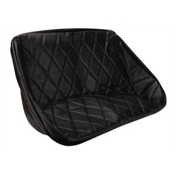 EMPI 3059 Buggy Rear Bench Seat Cover, Black Diamond Pleat, 34-1/2 In.