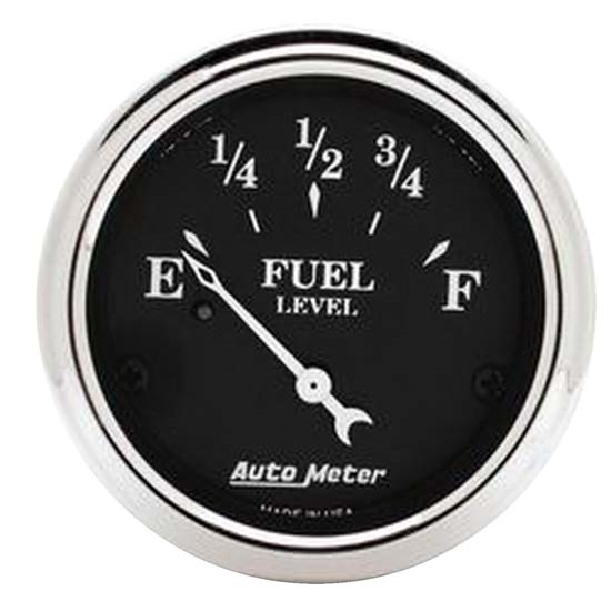 Auto Meter 1717 Old Tyme Black Air-Core Fuel Level Gauge, 2-1/16 Inch