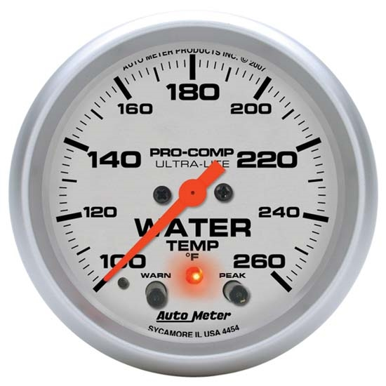 Auto Meter 4454 Ultra-Lite Digital Stepper Motor Water Temp Gauge