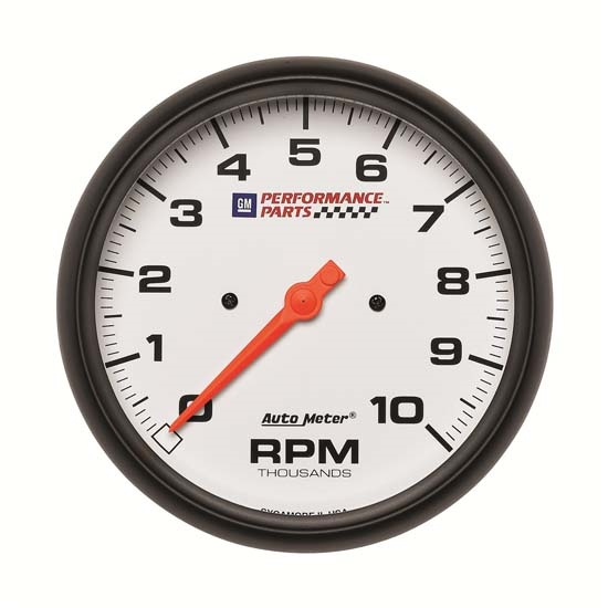 Auto Meter 5898-00407 GM White Air-Core In-Dash Tachometer Gauge
