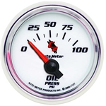 Auto Meter 7127 C2 Air-Core Oil Pressure Gauge, 2-1/16 Inch, 0-100 PSI