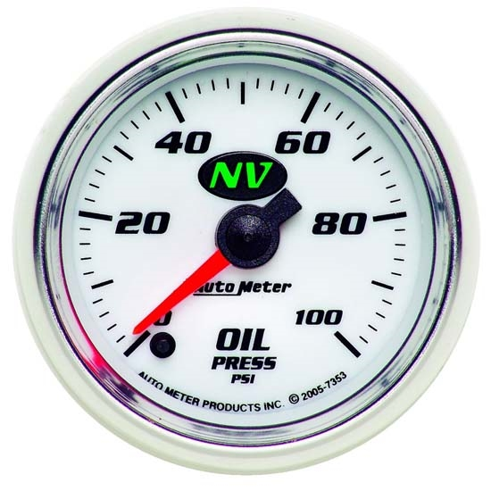 Auto Meter 7353 NV Digital Stepper Motor Oil Pressure Gauge