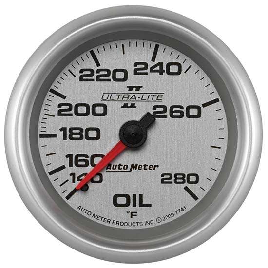 Auto Meter 7741 Ultra-Lite II Mechanical Oil Temperature Gauge