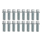 Dynatech® Header Bolts 3/8 x 1 Inch, 12 Point, 16 Pack