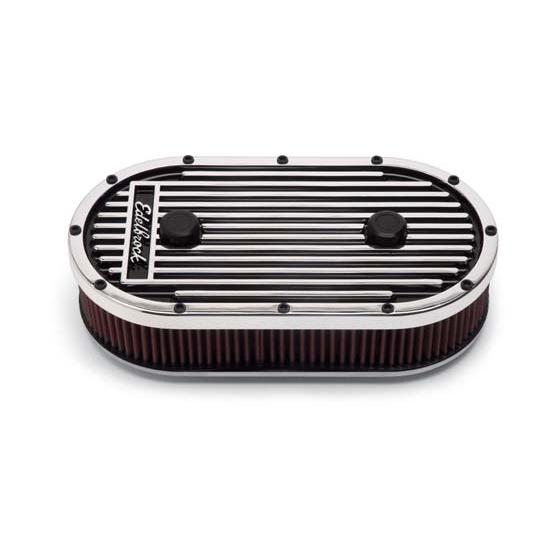 Edelbrock Air Cleaner : Edelbrock elite series air cleaner assembly oval