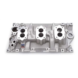 Edelbrock 5417 C357-B Three-Deuce Intake Manifold, Small Block Chevy