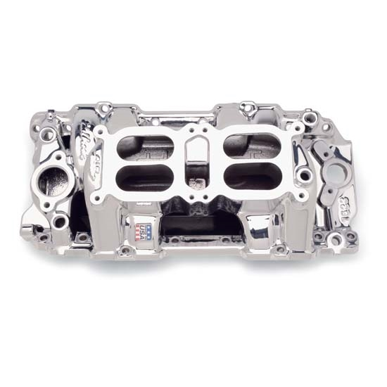 Edelbrock 75224 RPM Air Gap Dual-Quad Intake Manifold, Big