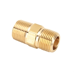 Air Suspension Brass Nipple Pipe Fitting, 3/8 Inch NPT
