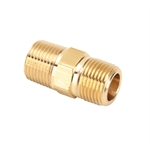 3325X6 Brass Nipple Pipe Fitting, 3/8 Inch NPT to 3/8 Inch NPT