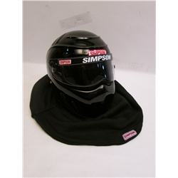 Garage Sale - Simpson RX Drag SA2010 Racing Helmet, Black, Size 6-3/4