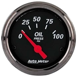 Auto Meter 1427 Designer Black Air-Core Oil Pressure Gauge, 2-1/16 In.